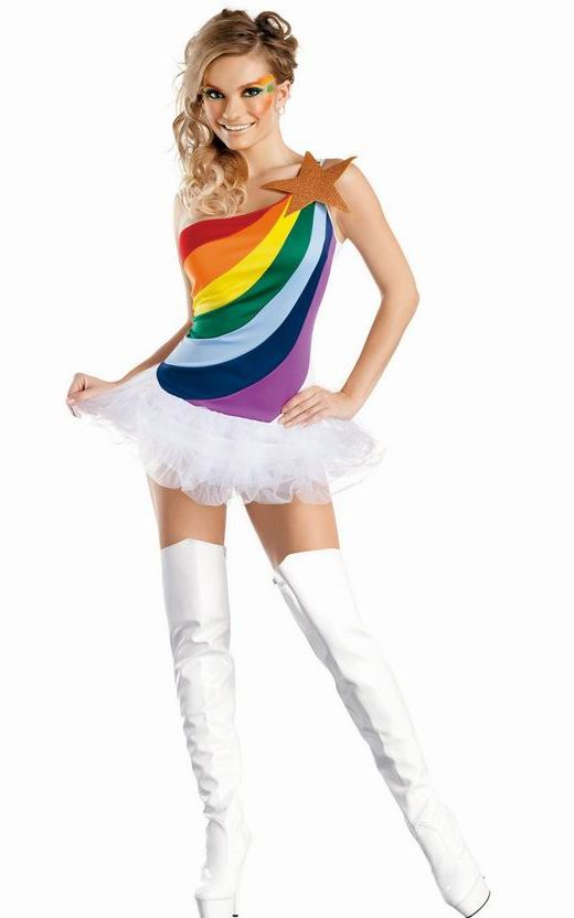 Rainbow Girl Adult C...