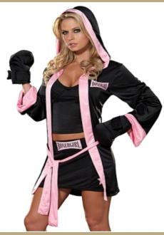 Sexy Boxer Girl Costume