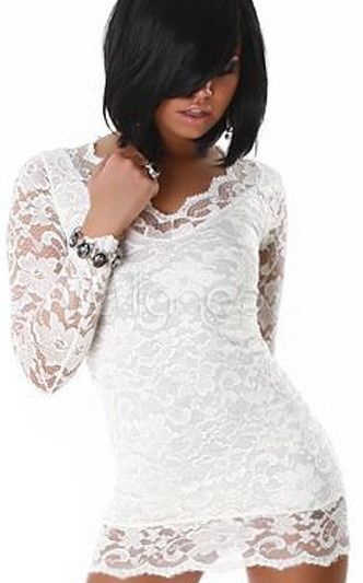 LACE MINI DRESS PENC...