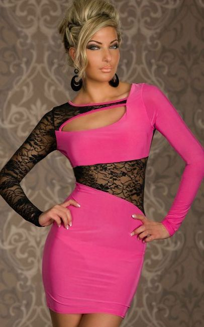 PINK LONG SLEEVE LAC...