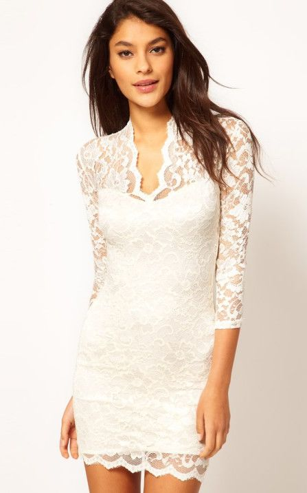 Lace Dress With Scal...