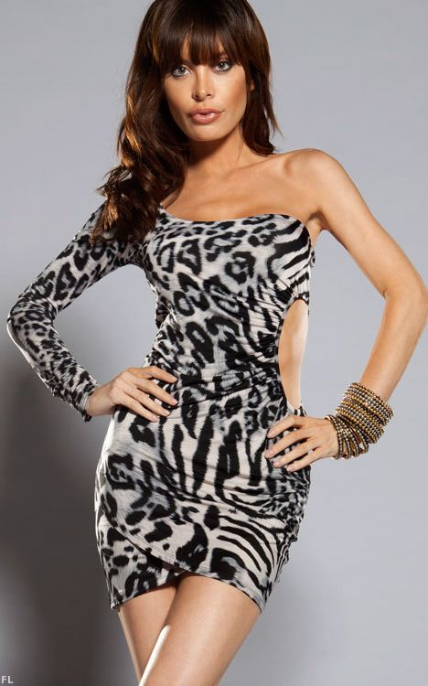 LEOPARD ONE SHOULDER...