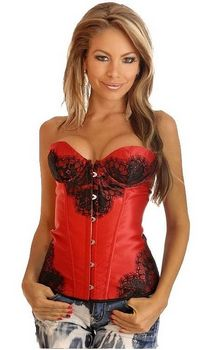 Red Floral Lace Stra...