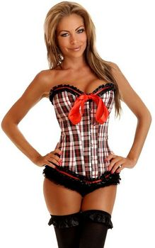 Black and red plaid ...