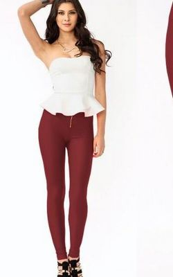 Front Zipper Shiny F...