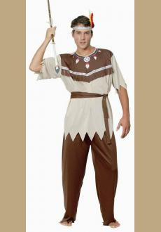 Mens Dress Up Fancy Dress Costume Native Indian Chief Warrior