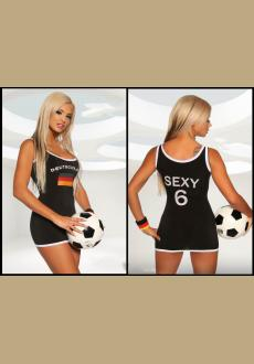 Black Germany Football Jersey Women's Mini Dress