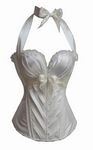 Satin Halter neck Wh...