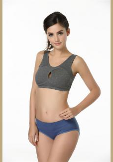 Fashion single-bra women's sports bra