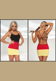 Strappy Germany Flag Dress