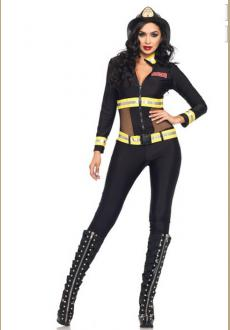 Red Blaze Firefighter Costume
