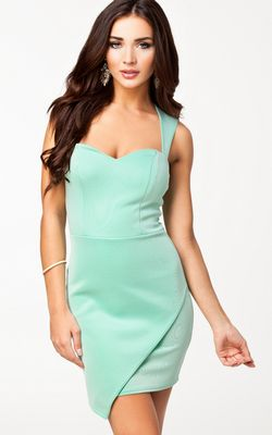 Square Green Dress