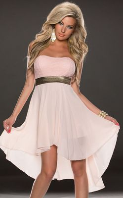 STRAPLESS LACE CHIFF...