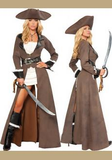 Halloween Pirates of the Caribbean Female Pirate Cosplay Costume