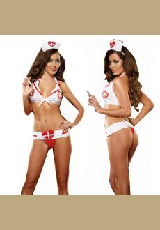 Nurse Sexy Lingeire Sets With Headdress Doctor Cosplay Party Costume