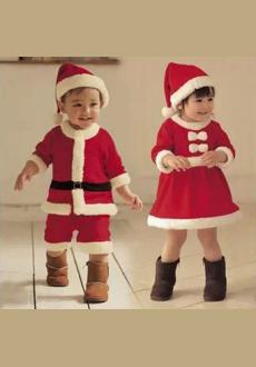 2-4 Years Kids Winter sets Boy Coat and Pant Children Santa Suit Novelty Costume Baby Christmas Clothing Sets