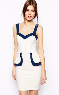 Pencil Dress With Co...