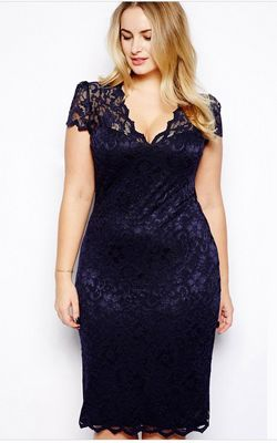 plus size Lace Midi ...
