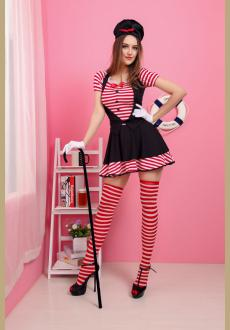 Candy Striped Mime Costume