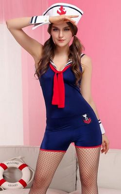 Navy Sailor Romper C...