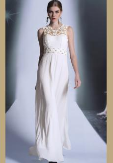 European and American white evening dress wedding dress