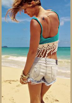 Summer Lace Swing Vest Sleeveless Top Strappy Cami Beach Bra