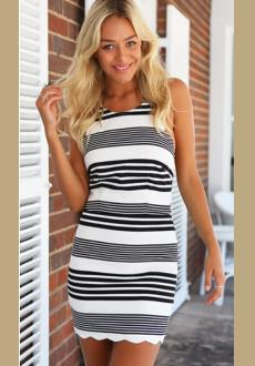 Crossed Striped Dress