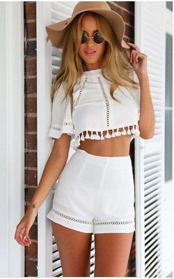 White Two Piece Tass...