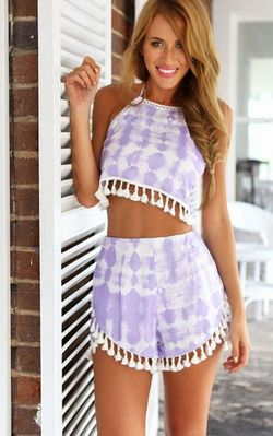 Purple White Tie Dye...
