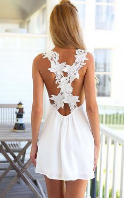 White Lace Criss Cro...