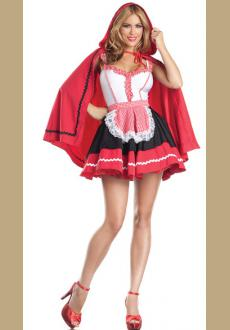 Romantic Red Riding Hood Sexy Adult Costume