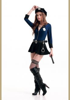 Sexy Police Woman Uniform Cop Dress