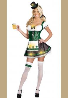 St Patricks Day Outfit Irish Girl Costume Adult Fancy Dress