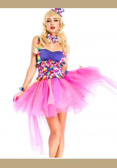 Fuchsia Circus Clown Cutie Costume