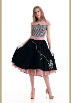 1950s Grease Bopper Poodle Pin Up Costume
