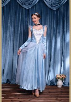 Womens Princess Cinderella Costume Halloween Fancy Dress Party Outfit
