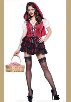 In Character Racy Little Red Riding Hood Adult Costume