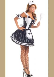 Grey French Maid Costume Dress
