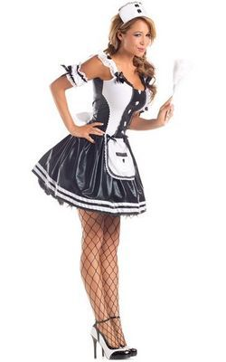Grey French Maid Cos...