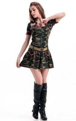 Army Green Mini Dres...
