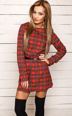 Long Sleeve Plaid Pr...