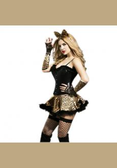 Adult Women Sexy Cat Uniform Kitten Halloween Costume