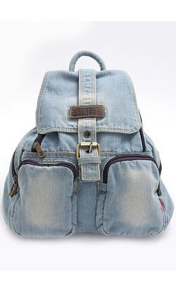 Denim cloth backpack