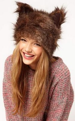 Womens Faux Fur Ear ...