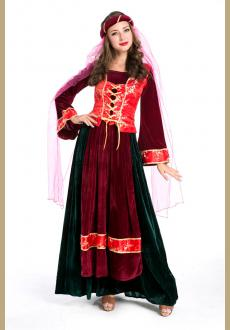 Noble Medieval Royal Persian Queen Costume