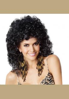 Individual corn to be small and micro curly wig short hot curly hair fluffy hair the elderly fehion wigmale wig fas