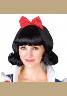 Cosplay Anime Snow White Wigs, Black Short Hair For Games