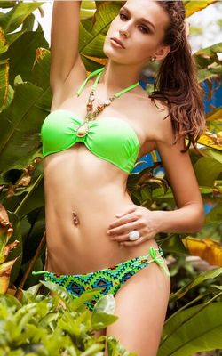Bandeau Bikini Fashion European and American women Push Up Bra Bikini Set