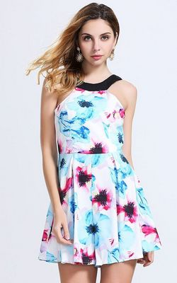 Beach Floral Mini Dr...