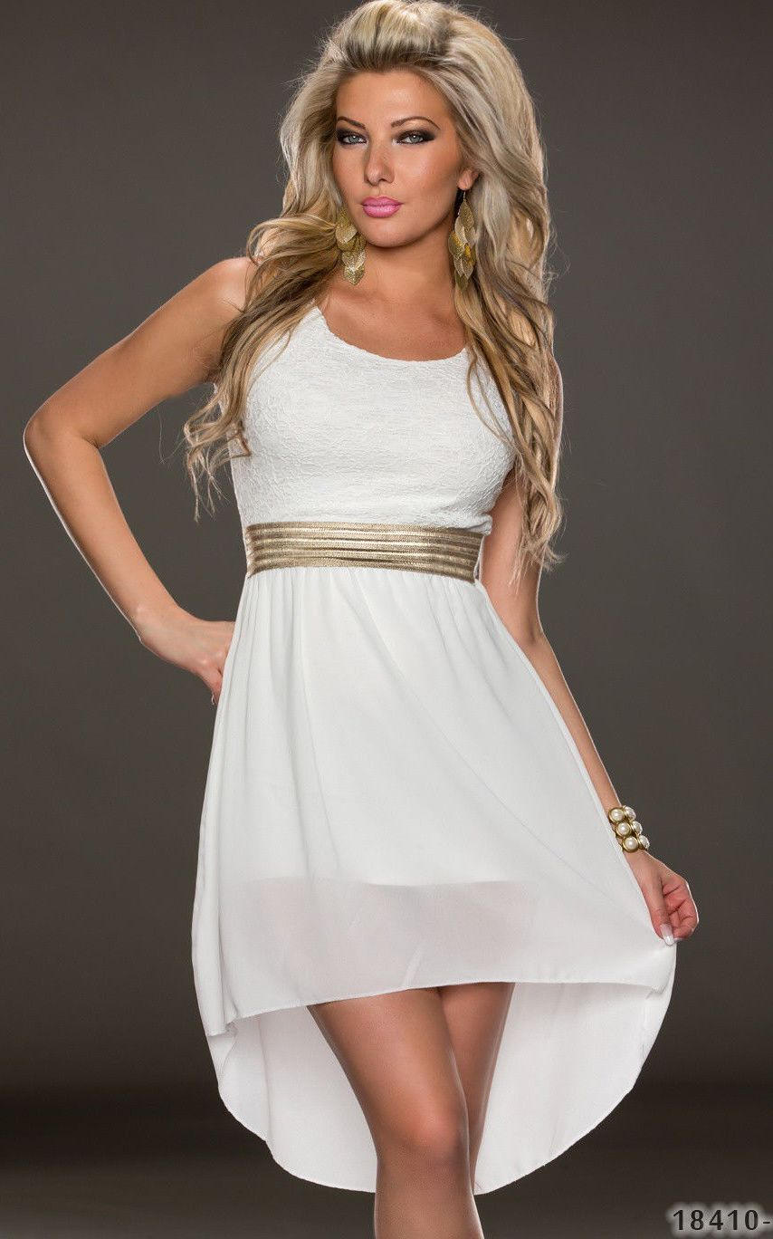 White dress with tul...